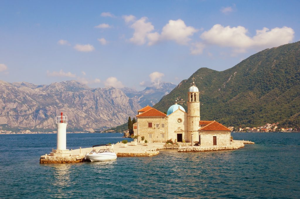 View Of Bay Of Kotor And Island Of Our Lady Of The Rocks ( Gospa